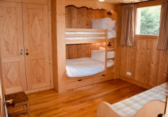 Bedroom 3-bunks and twin sofa